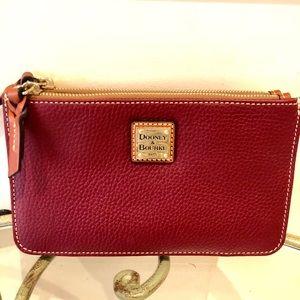 [Dooney and Burke] maroon leather wallet